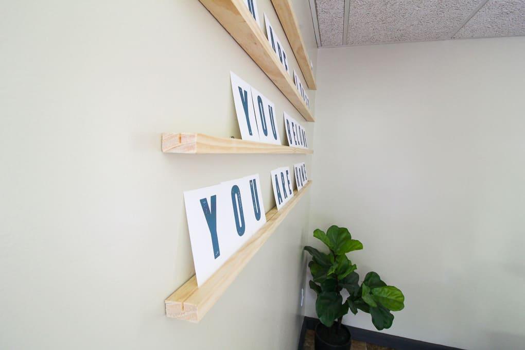 Letterboard Ledge