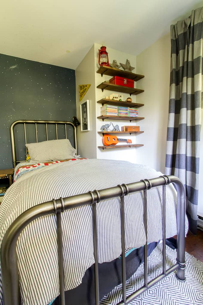 Little Boys Bedroom with Metal Beds