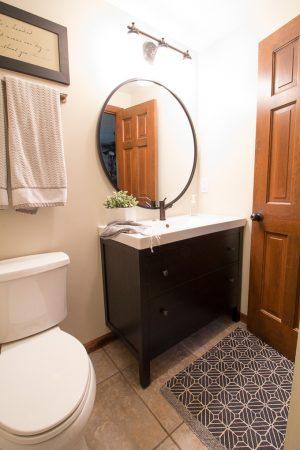 Modern Bathroom with Ikea Hemnes Sink