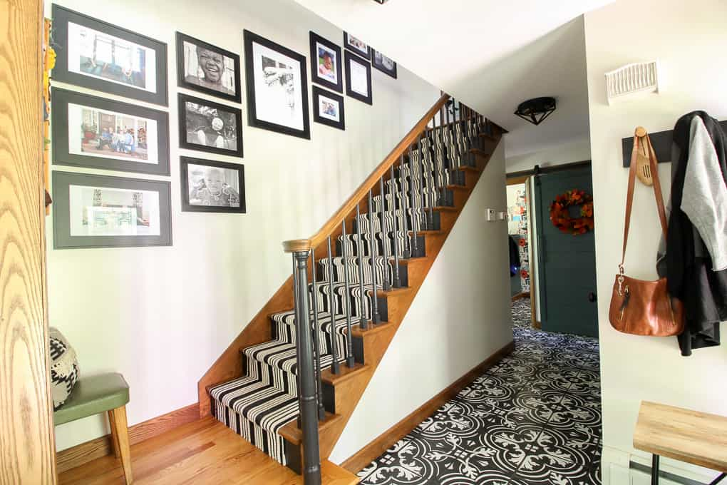Photos Hung on Stairway