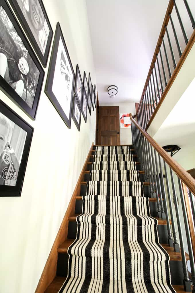 Stairs with Runner and Gallery Wall