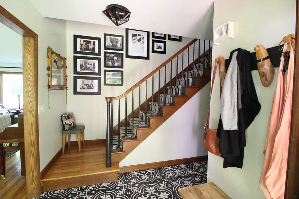 How to Hang a Stairway Gallery Wall