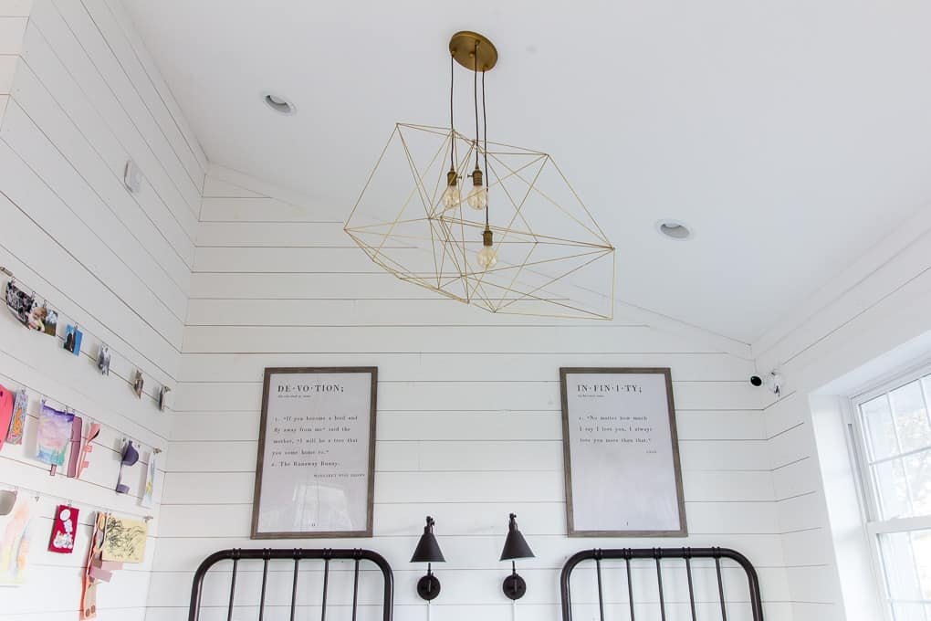 DIY Modern Geometric Ceiling Light