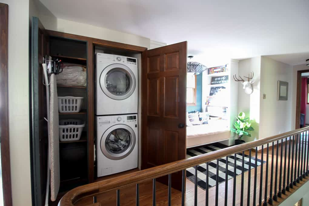 Hallway Laundry Closet