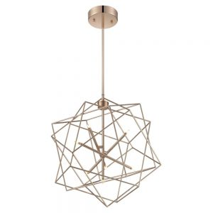 Brass Geometric Ceiling Light