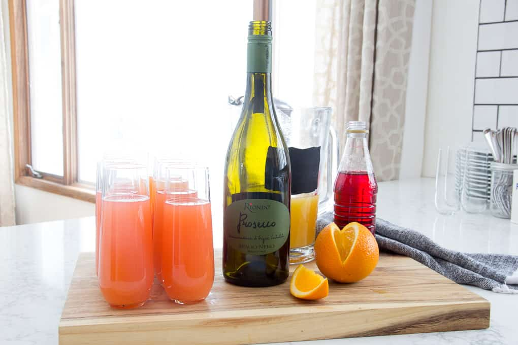 Girl 39 S Brunch With Blushing Mimosa Recipe Bright Green Door