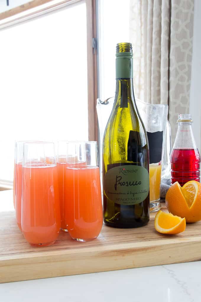Girl S Brunch With Blushing Mimosa Recipe Bright Green Door