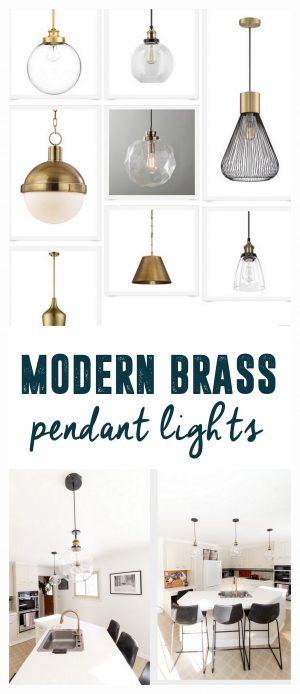 Modern Brass Pendant Lights