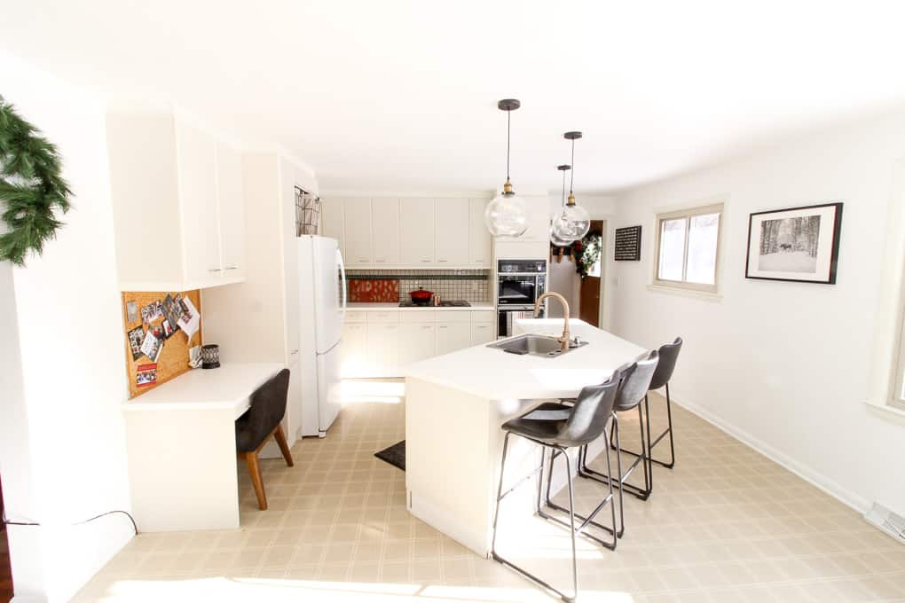 Modern Kitchen With Brass Accents