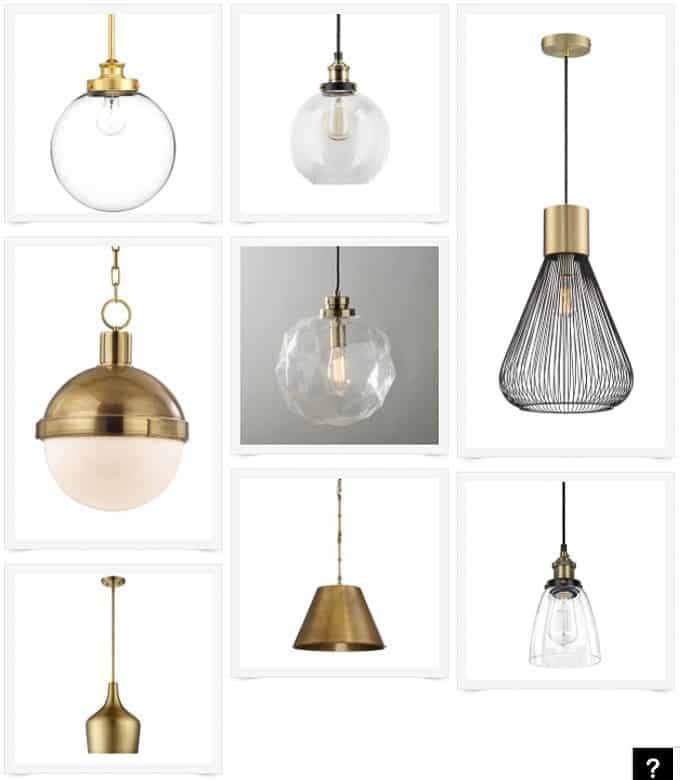 Modern Brass Pendant Lights for the Kitchen!