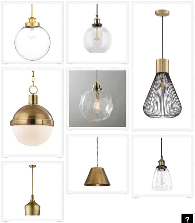 Modern brass pendant lights for the kitchen bright for Brass kitchen light fixtures