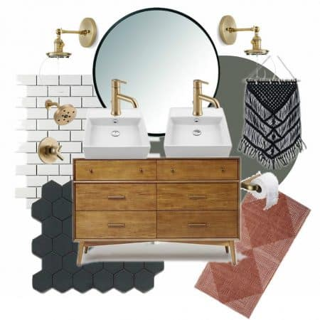 Modern Master Bathroom Mood Board