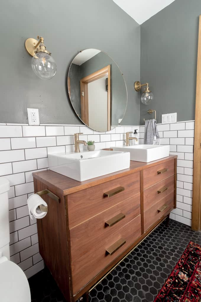 Modern Bathroom with Dresser Vanity