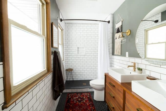 Modern Bathroom with Subway Tile Reveal