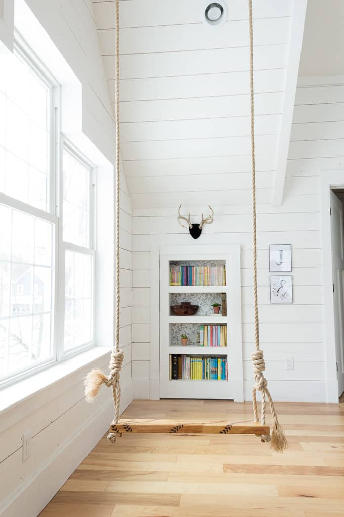 Hidden Bookcase door with swing in room & DIY Hidden Doorway Bookcase - Bright Green Door