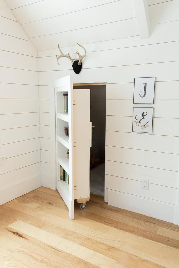 rolling hidden bookcase doorway