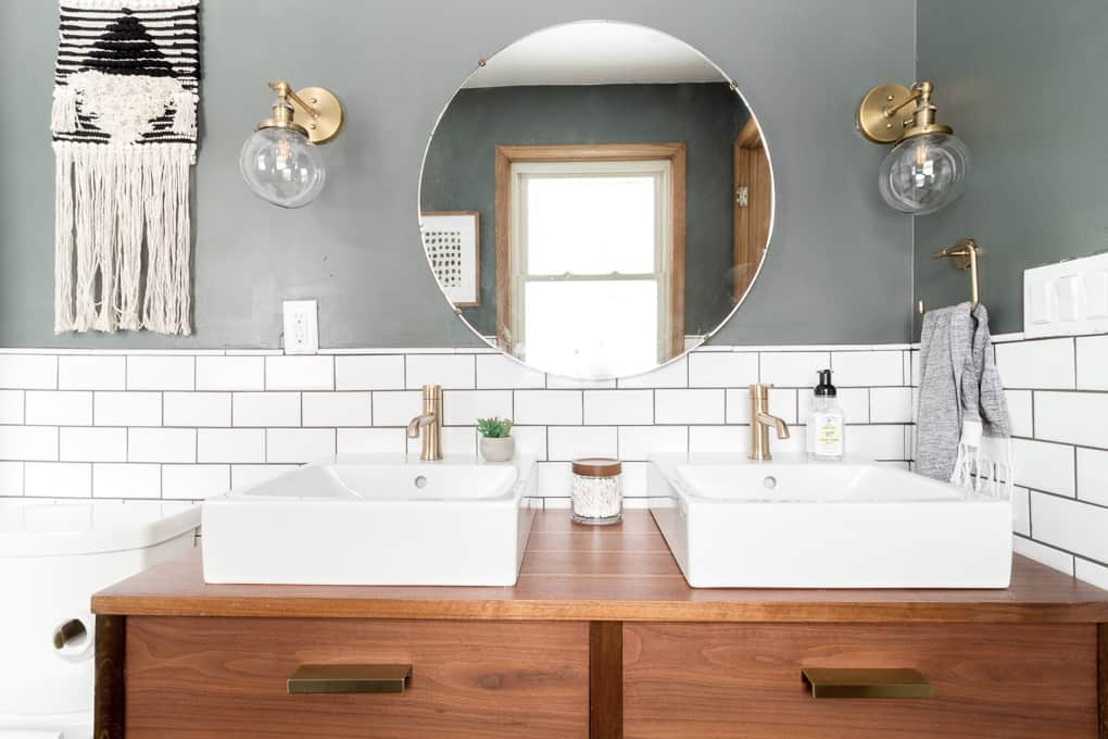 Modern Bathroom with Subway Tile