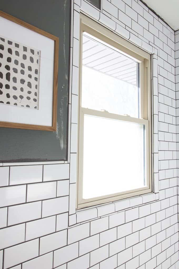 How to Tile around a window
