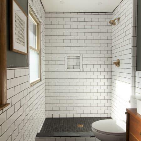 Modern Bathroom with Subway Tile
