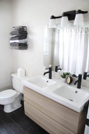 bathroom with ikea vanity