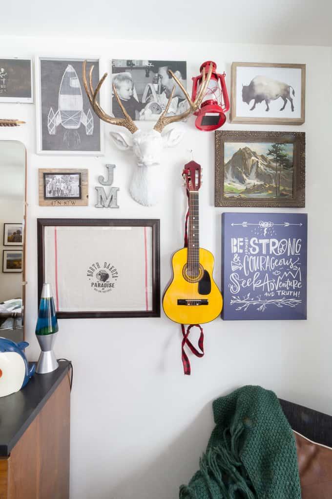 Boys Bedroom Gallery Wall