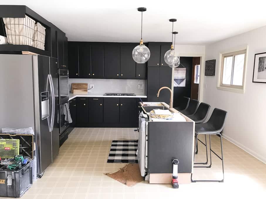 ... black kitchen cabinets