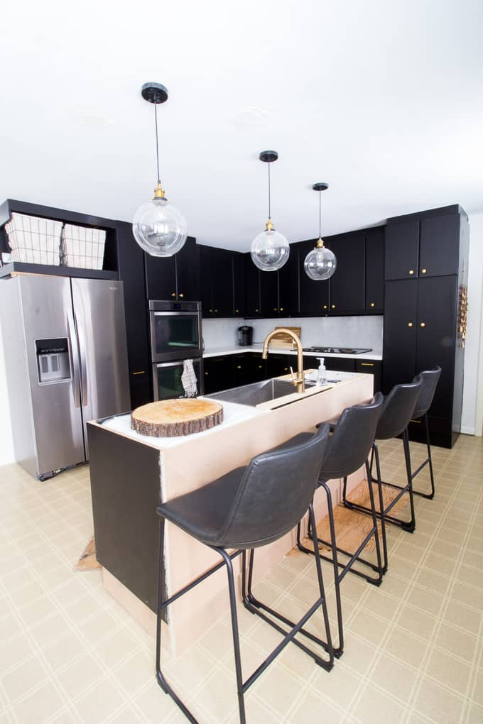 How to Paint Black Kitchen Cabinets Our Kitchen Renovation