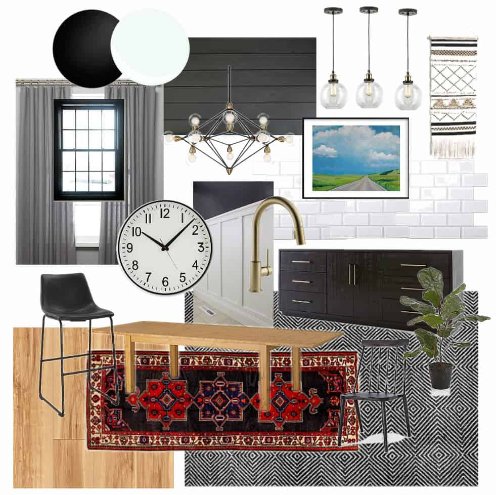 Mood Board for Modern Dining Room and Kitchen