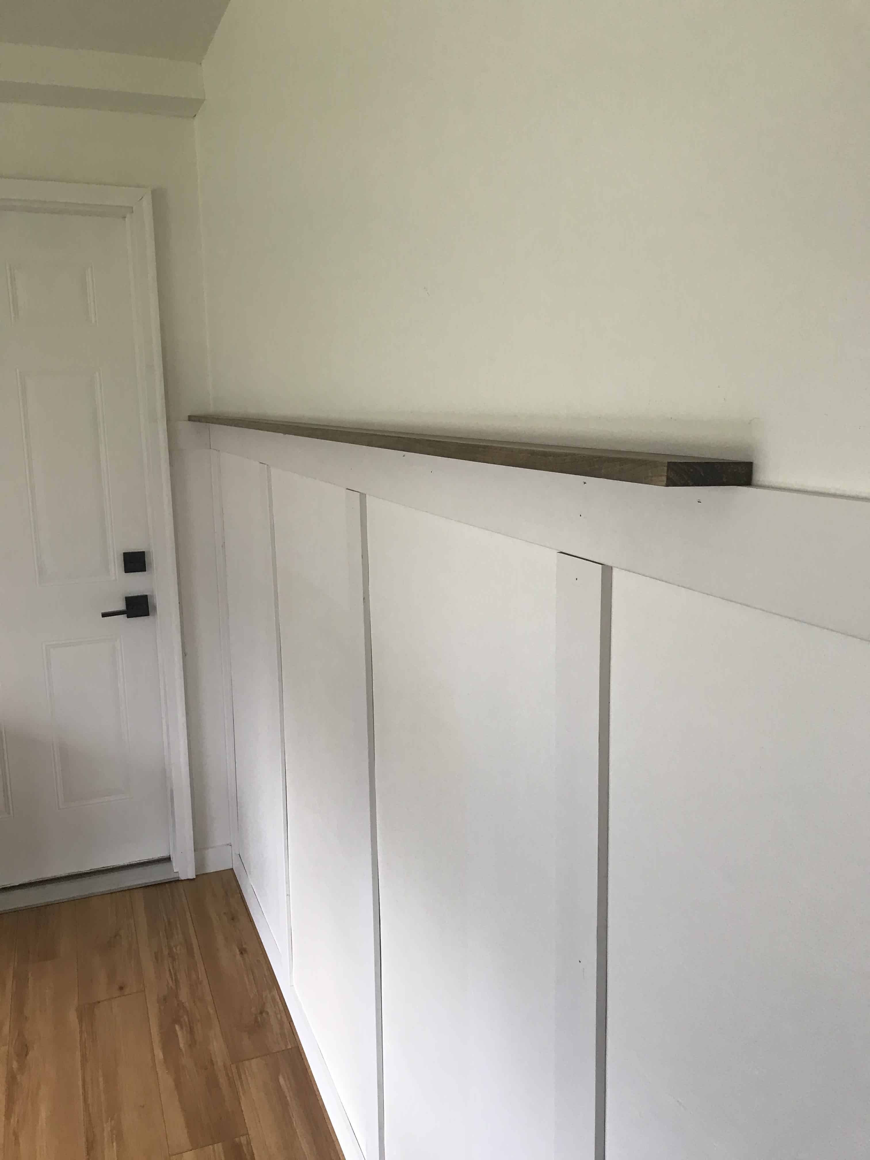 DIY Wainscoting with Picture Ledge