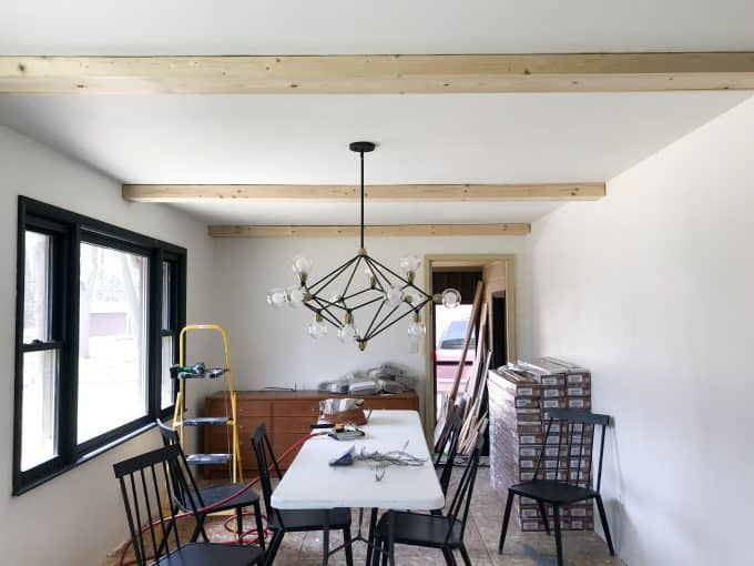 How To Install Faux Wood Beams Diy White Faux Ceiling Beams