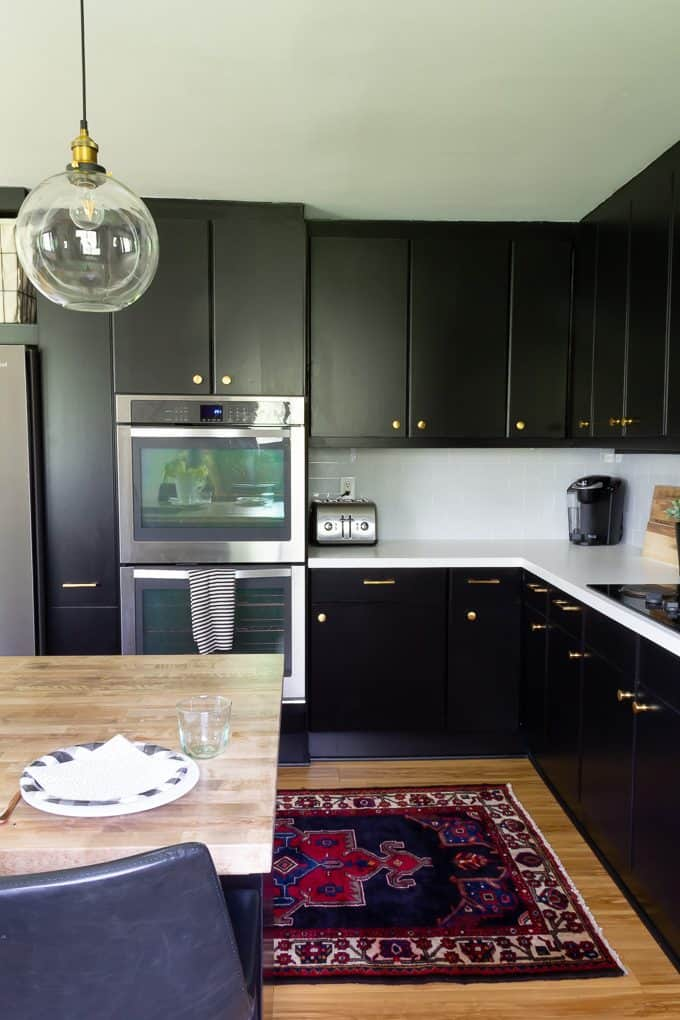Black Cabinets in Kitchen