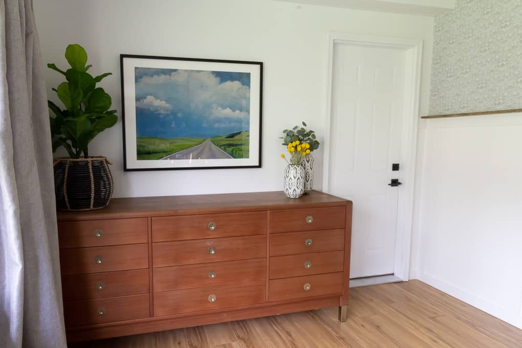 Mid-Century Credenza with Brass Legs