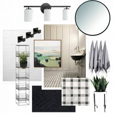 Board and Batten Bathroom Mood Board