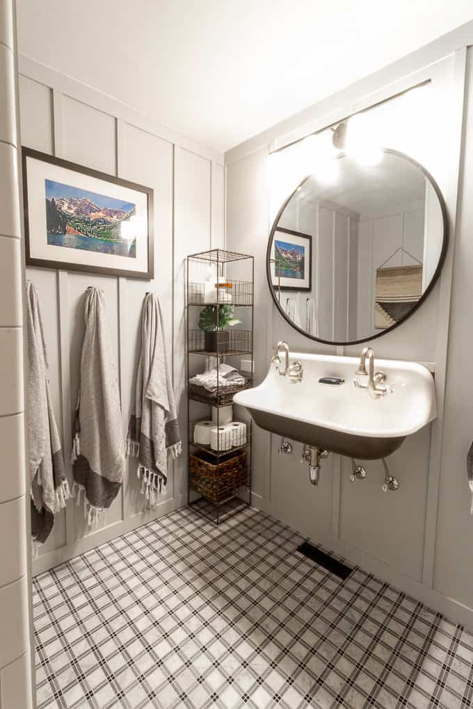 Our Board And Batten Bathroom With A Farmhouse Sink