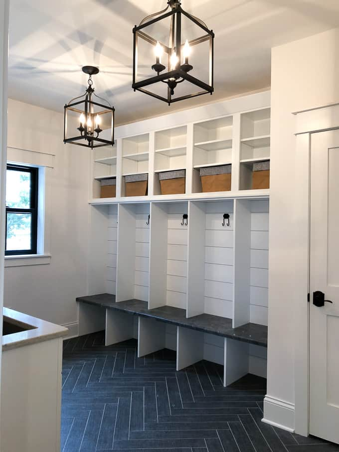 Modern Mudroom with Built in Lockers