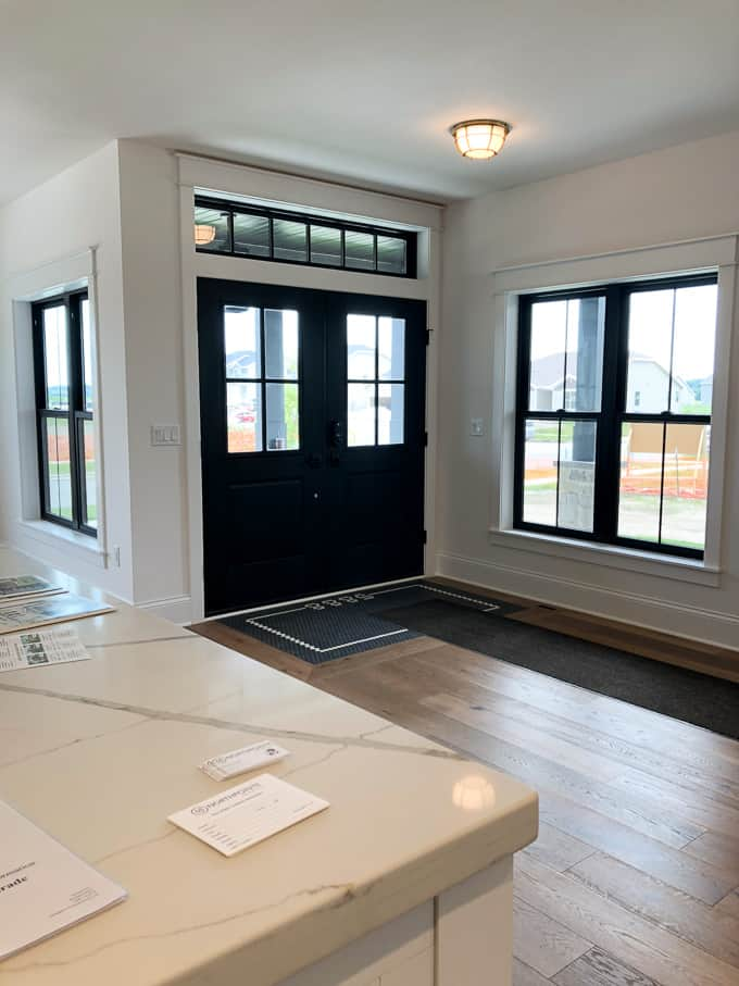 French Doors with Inlaid Tile