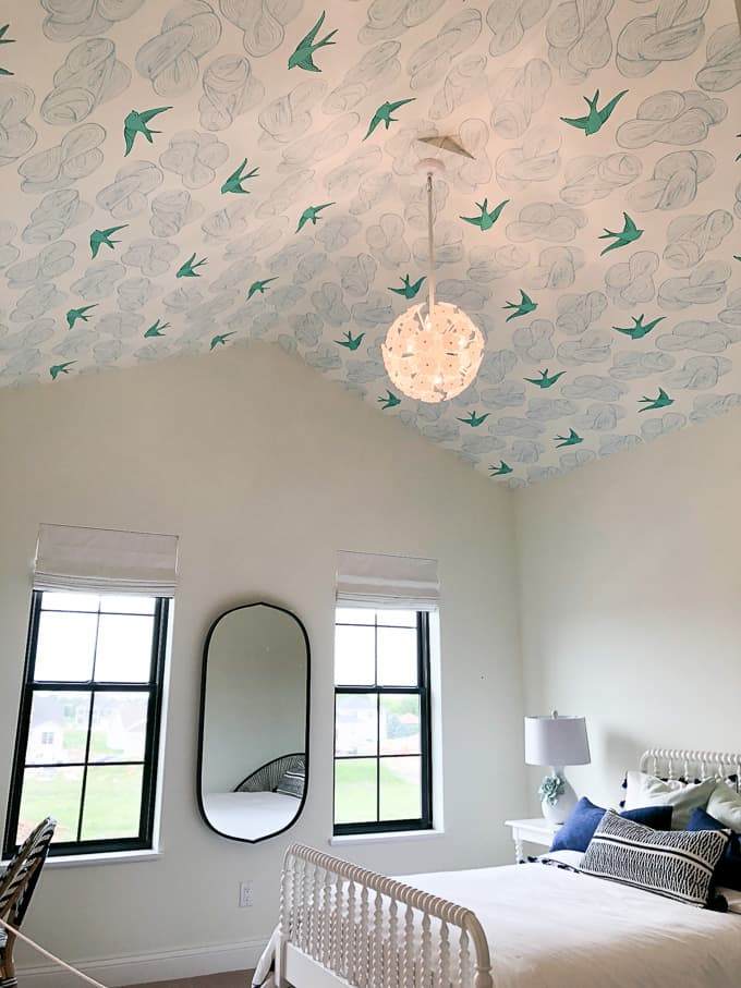 Bird Wallpaper on Ceiling