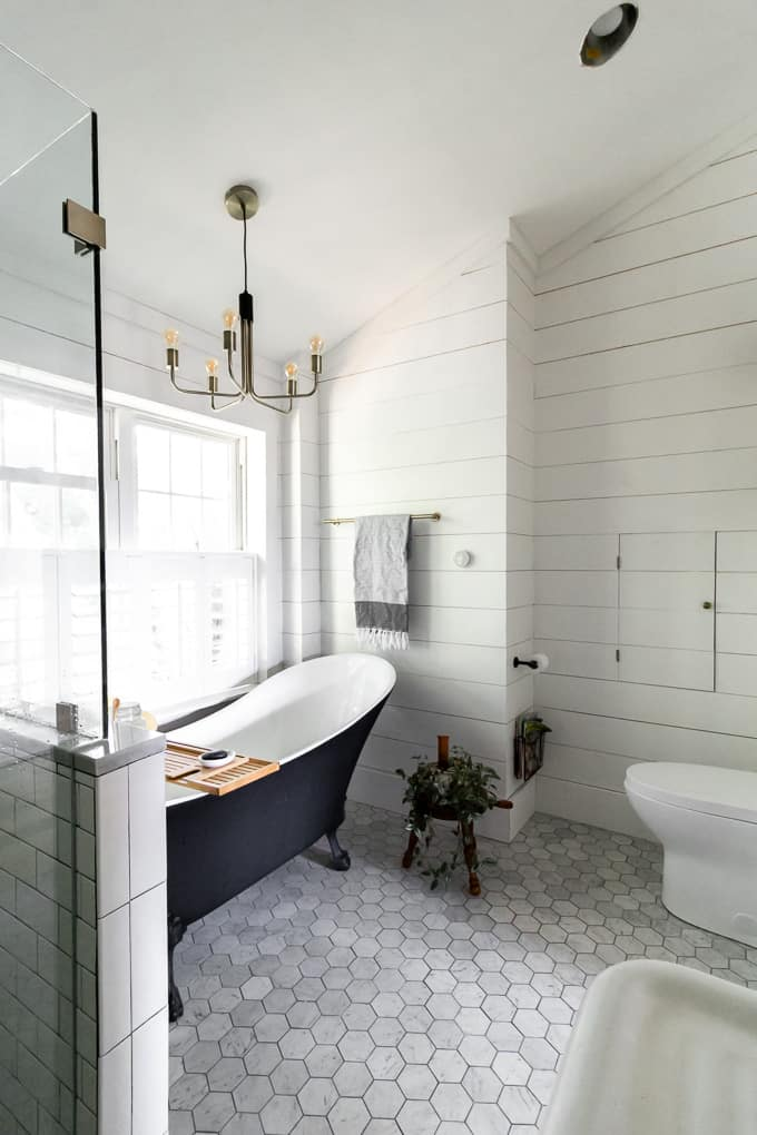 Clawfoot Tub and Shower in Bathroom