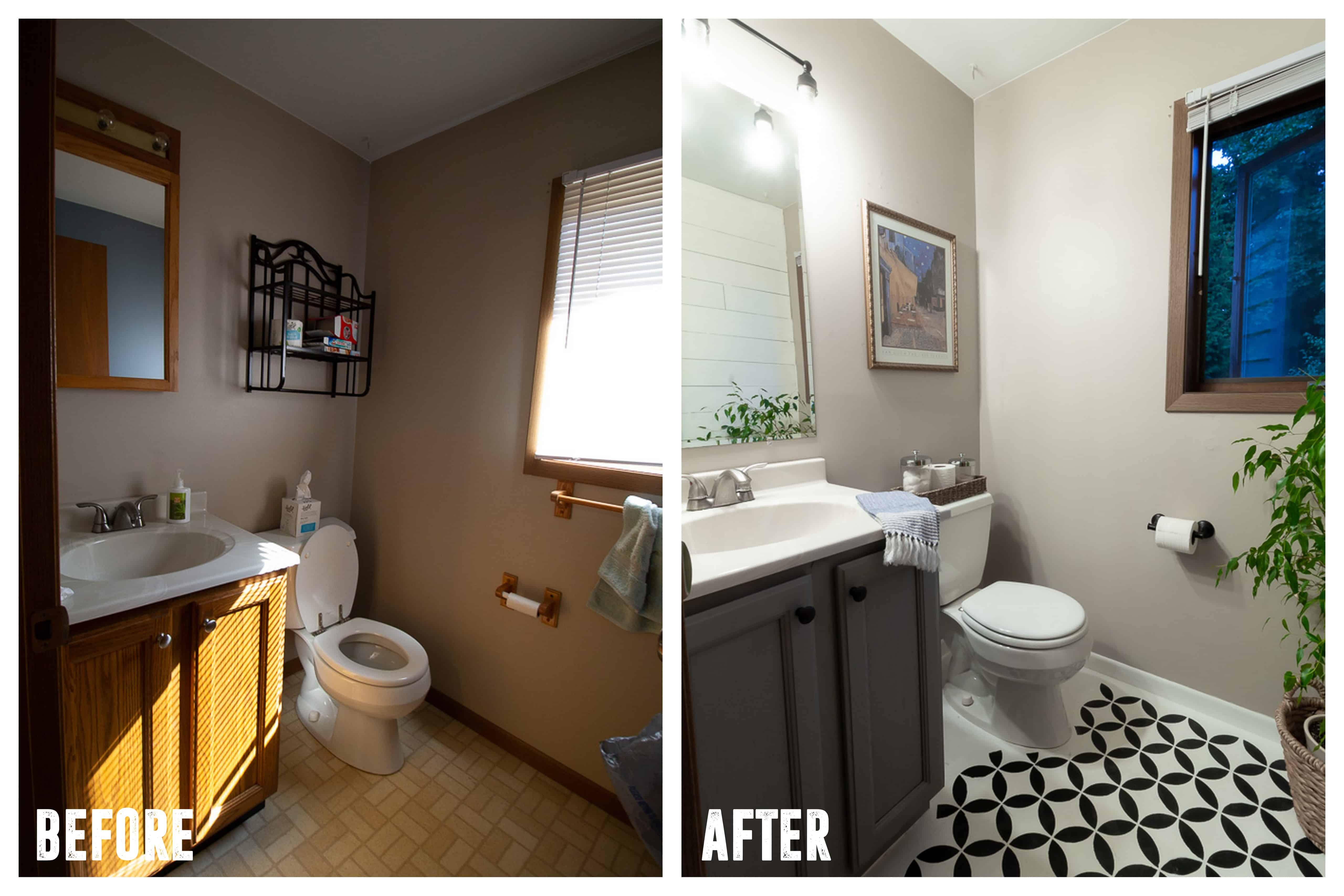 We Did The Exact Same Updates In Both Bathrooms, Hereu0027s A List Of The Simple  Ways You Can Update Your Bathroom In A Weekend: