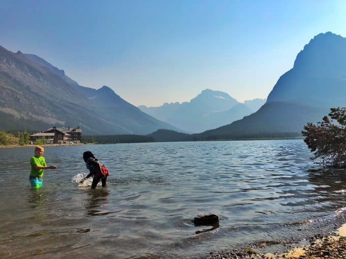 Swimming at Glacier National Park