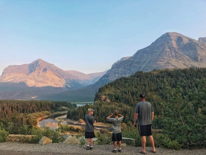 Kids at Glacier National Park