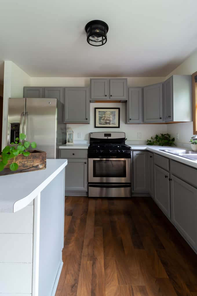 Farmhouse Kitchen with Painted Cabinets