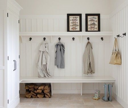 Mudroom with Hooks and Bench