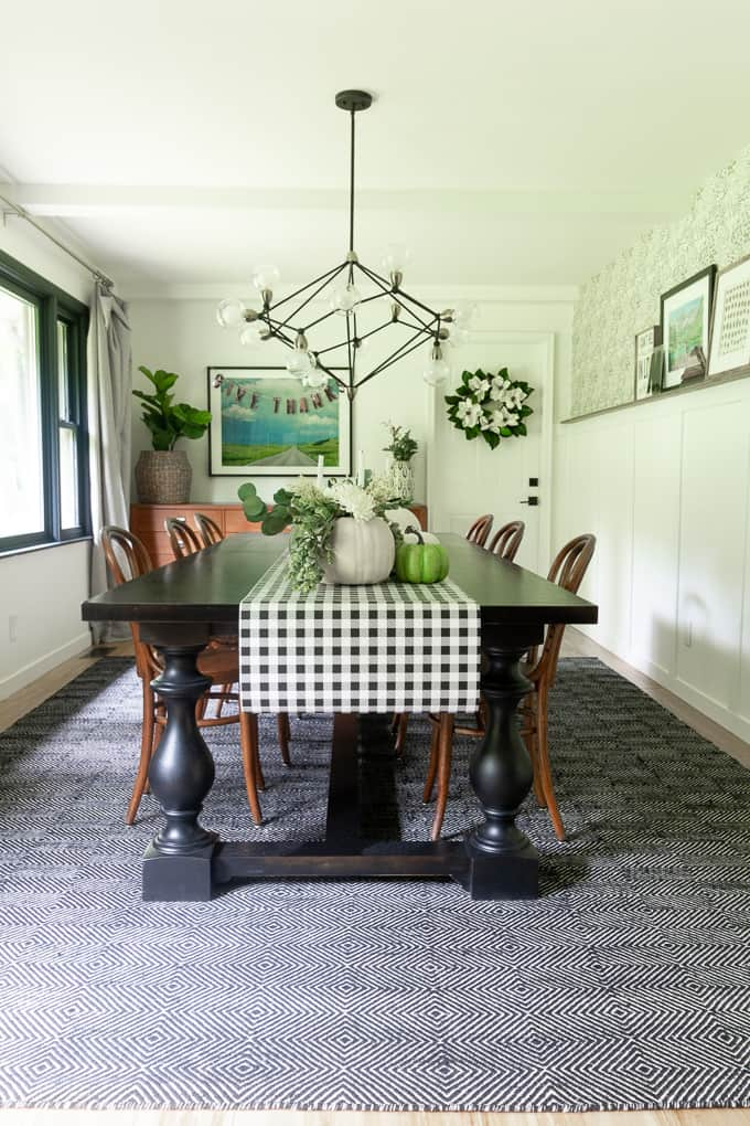 Modern Fall Dining Room
