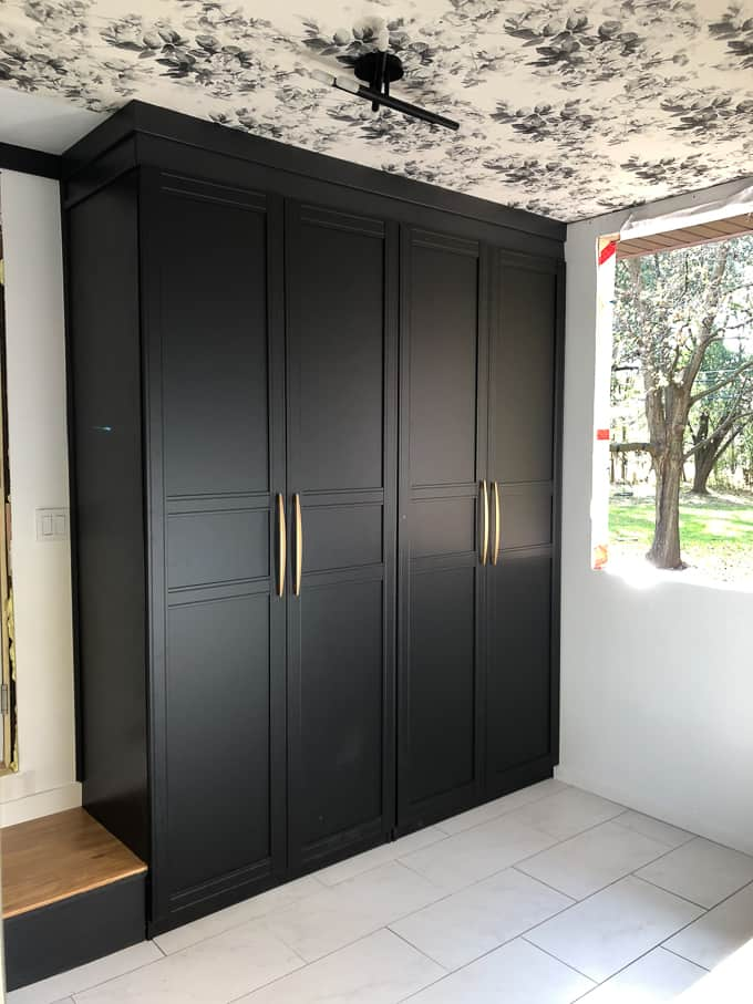 Ikea Pax Wardrobes in Mudroom