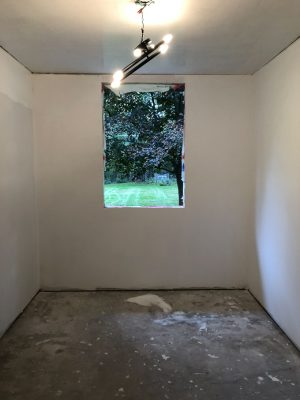 Mudroom with Wallpapered Ceiling (1)-2