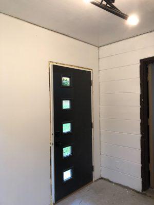 MCM Door Painted Black