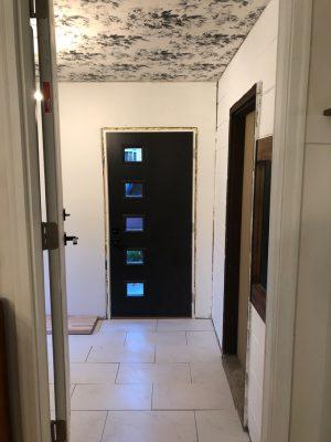 Black MCM Exterior Door