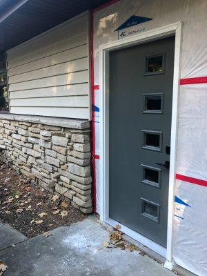 Exterior Door Painted Green
