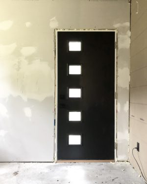Modern Door Painted Black